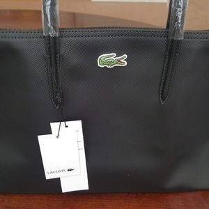 New Lacoste Black Shopping Bag Large